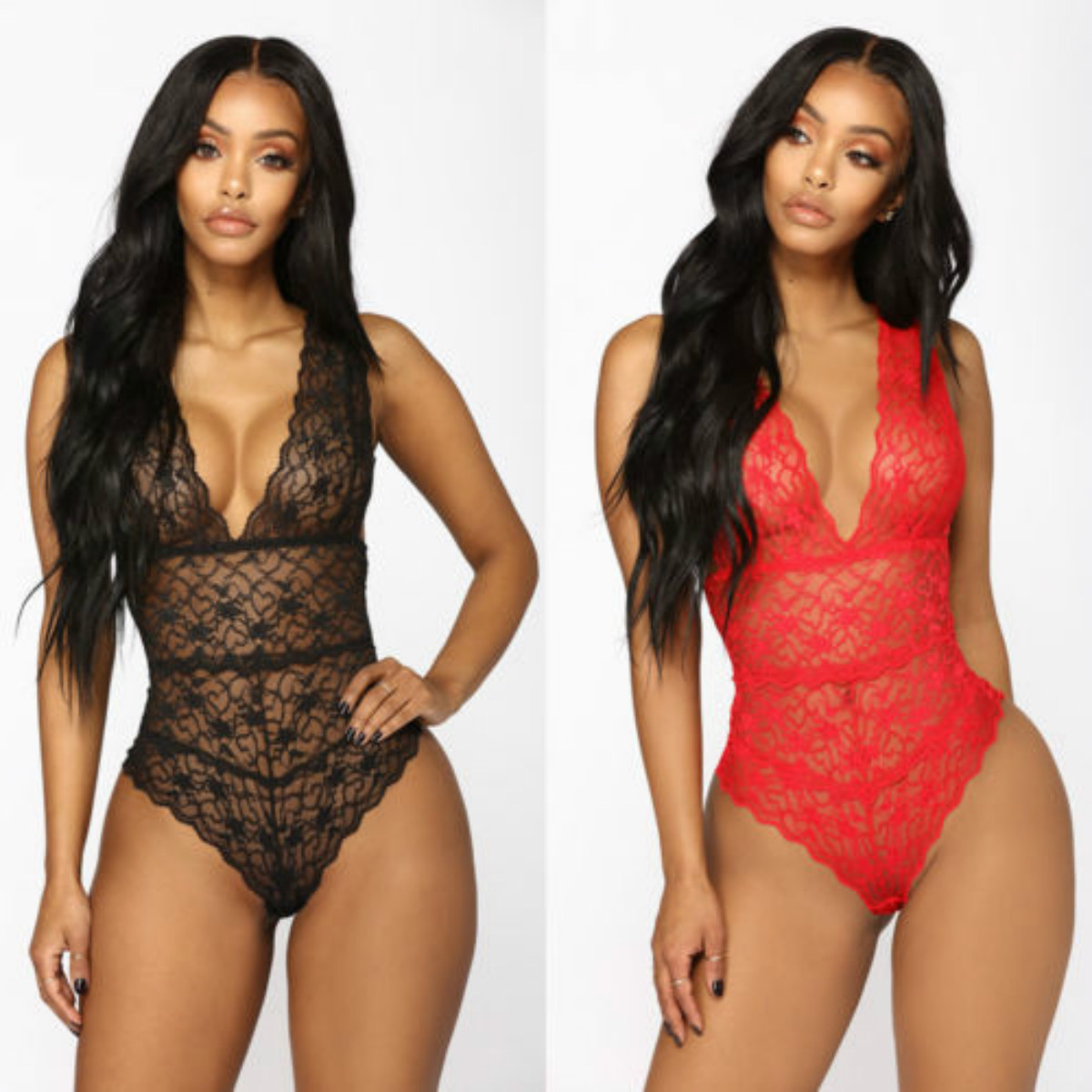 59b8e8a81578 Detail Feedback Questions about Women Sexy Lingerie Lace Romers V Neck 2018  G string Underwear Babydoll Playsuit Sleepwear Sets on Aliexpress.com |  alibaba ...