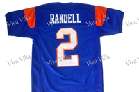 2 Radon Randell Blue Mountain State Football Jersey 1 Harmon Tedesco Stitched Men Movie Football Jerseys