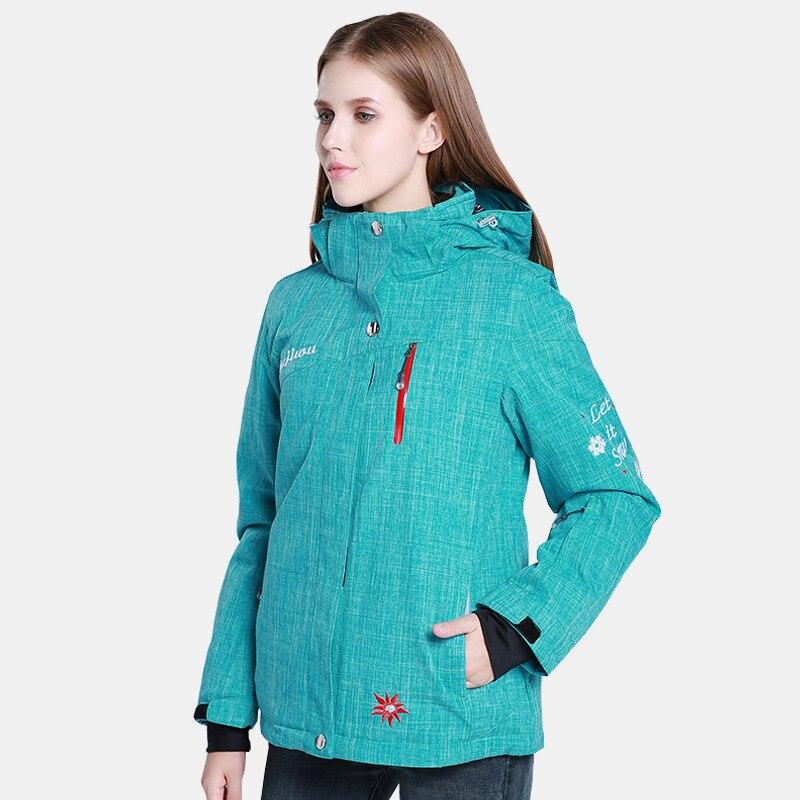 Prix pour Le nouveau ski costumes alpinisme veste imperméable et respirante froid épais coton dames