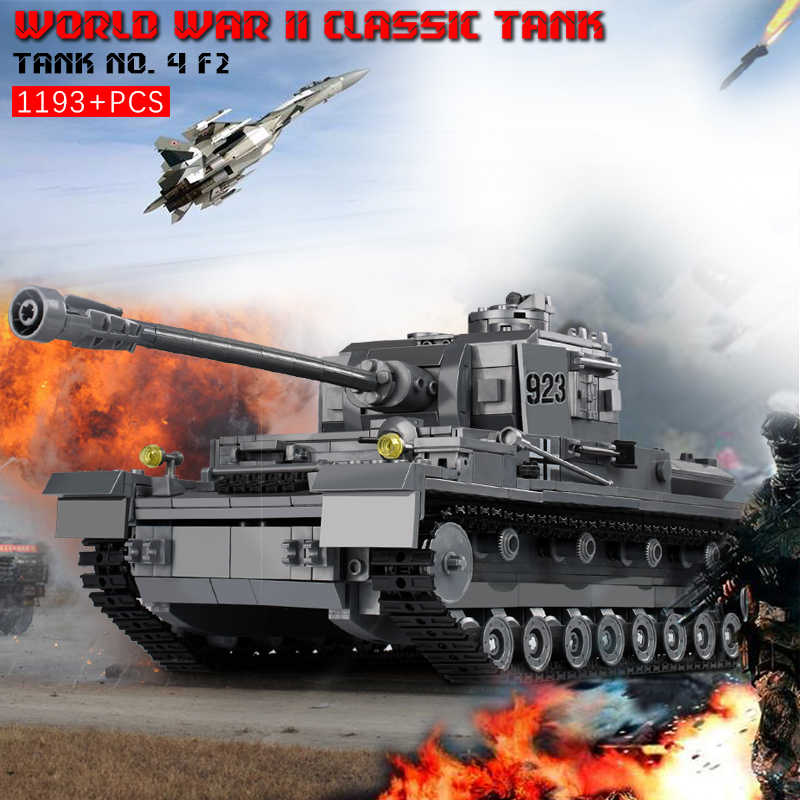 KAZI Large Panzer IV Tank Blocks 1193pcs Building Blocks Military Army Constructor Educational Assembly Toys for Children Gift