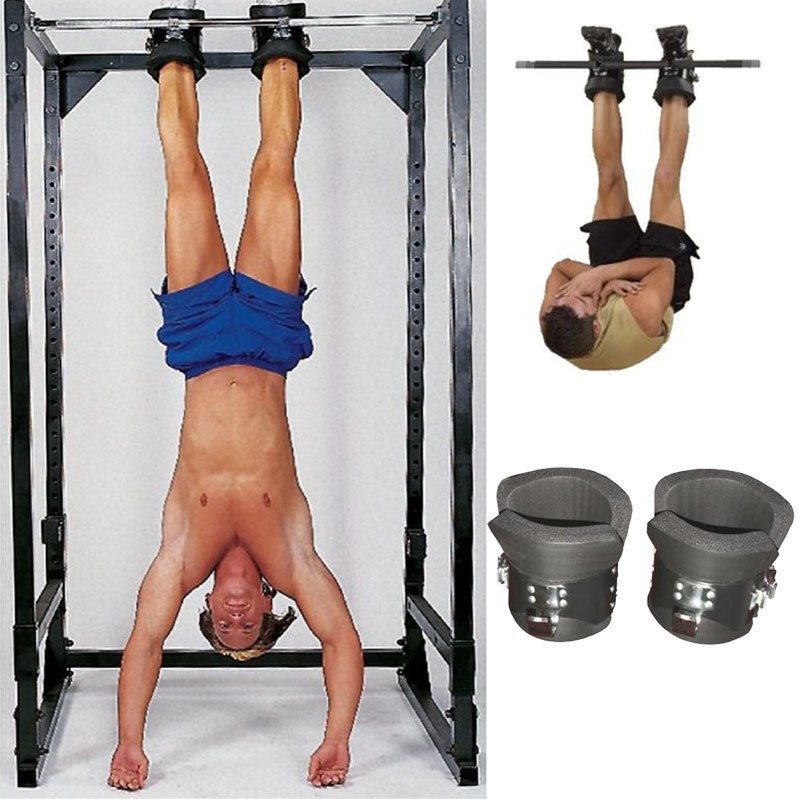Fitness Chin Up System Gravity Boots Safety Locking Inversion Boots Therapy Ankle Ab Gym Body Building