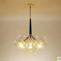 Postmodern minimalist living room chandelier restaurant bedroom Nordic clothing store bubble glass ball chandelier children LED