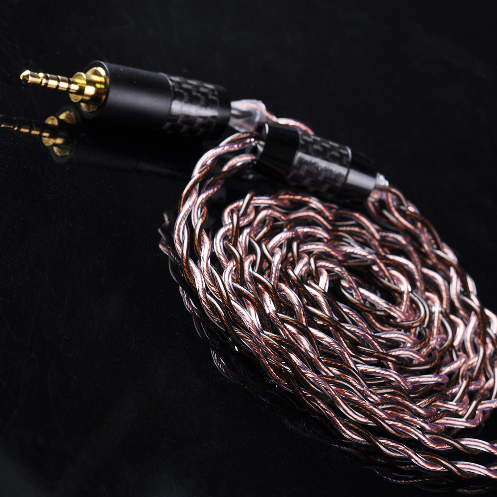 UPOCC NEOTECH 26AWG 7N Single Crystal Copper Cable 2.5/3.5/4.4mm Balanced  Cable With MMCX/2PIN Connector For ZS10 AS10 T2 T3