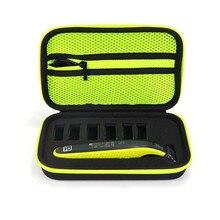 Nouvel étui rigide Portable pour Philips OneBlade tondeuse rasoir et accessoires EVA voyage sac de rangement boîte de rangement (seul étui)