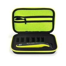 Новый жесткий портативный чехол для Philips OneBlade, триммер, бритва и аксессуары, дорожная сумка из ЭВА, коробка для хранения (только чехол)
