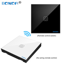 EU/UC The smart home touch switch induction type non-woven wire is randomly attached to the toughened glass panel through цена