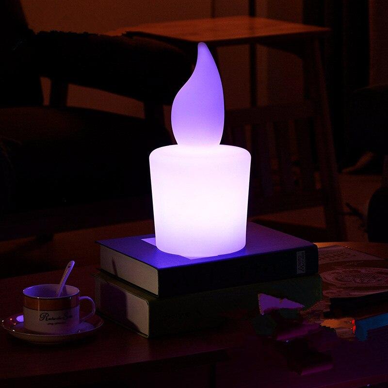 Креативная свеча с дистанционным управлением светодиодный ночник USB зарядка бар Спальня отель кабинет красочный rc Светодиодный светильник Настольная лампа наружная лампа - 2