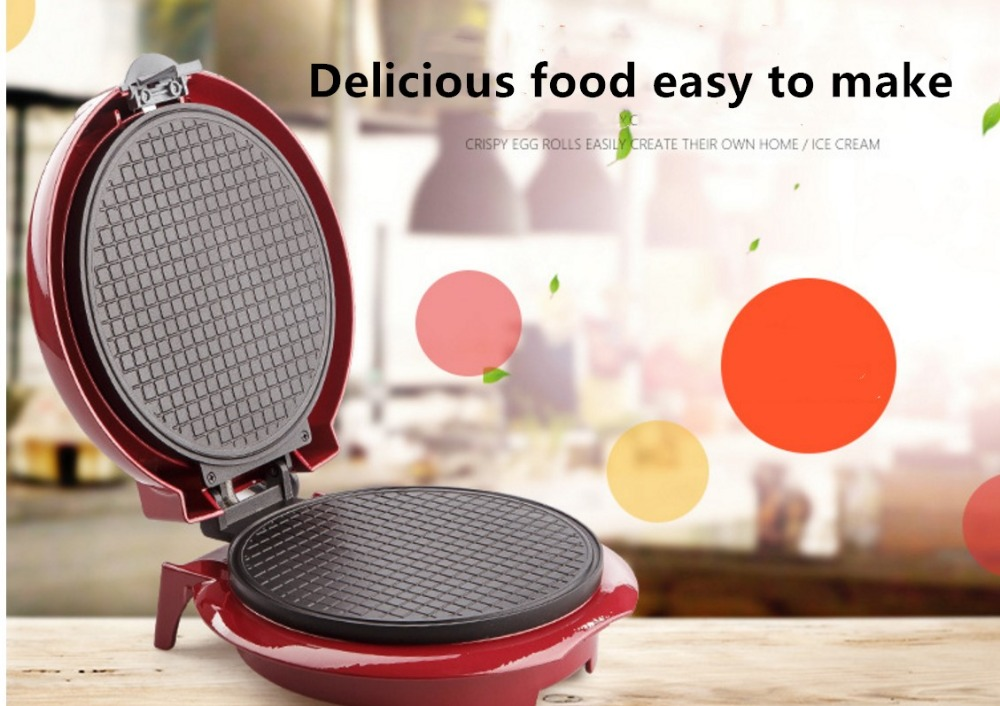 все цены на Electric Egg Roll Maker Crispy Omelet Mold crepe baking Pan Waffle Pancake Bakeware ice cream cone machine pie frying grill