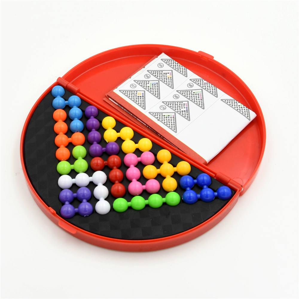 Interesting IQ Pyramid Beads Puzzle Logic Mind Educational Game Toys Orange TR