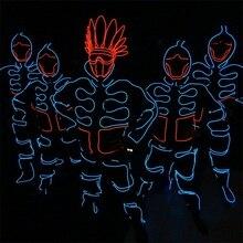 Лидер продаж Мода Световой Костюмы светодиодные фонари Костюмы Одежда Костюм Экипировка led костюм