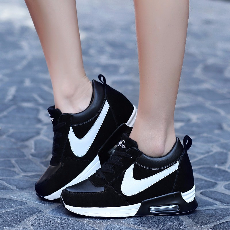 Height Increasing Casual Women Shoes 2016 Fashion Autumn PU Leather High Top Wedges Casual Shoes Lace Up Ladies Shoes YD139 (26)