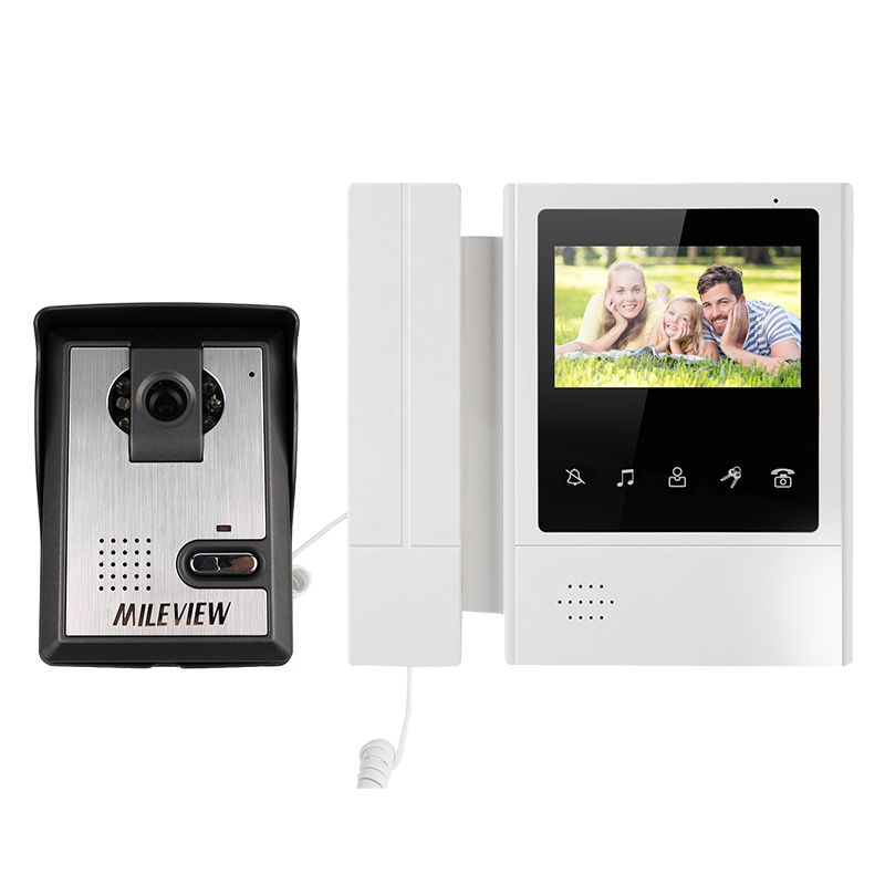 FREE SHIPPING Hand held 4.3 Color Touch Screen Video Intercom Door Phone System Night Vision Doorbell Camera Unlock Monitor 7inch video doorphone intercom system tft lcd color screen monitor gold night vision camera id card unlock video doorbell