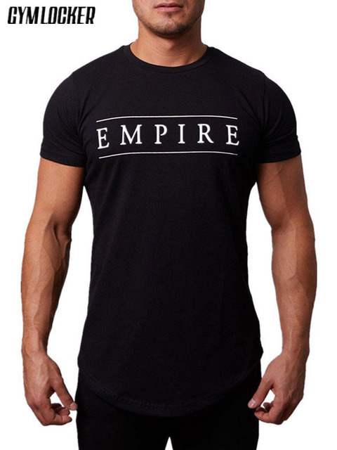 Nova marca Boutique de Fitness Musculação T-shirt dos homens de manga Curta Casuais Basculador Moletom tee academias slim fit O-PESCOÇO DOS HOMENS T-SHIRT