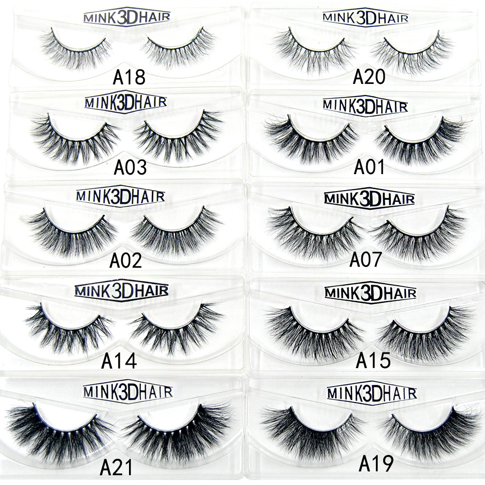 3D mink lashes in false Eyelashes Hand Made full strips mink hair Repeated use soft natural Crisscross Cruelty free eye lashes