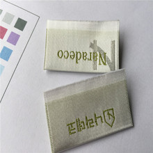 Custom High Density Satin Woven Label Clothing Labels Name Garment Tags