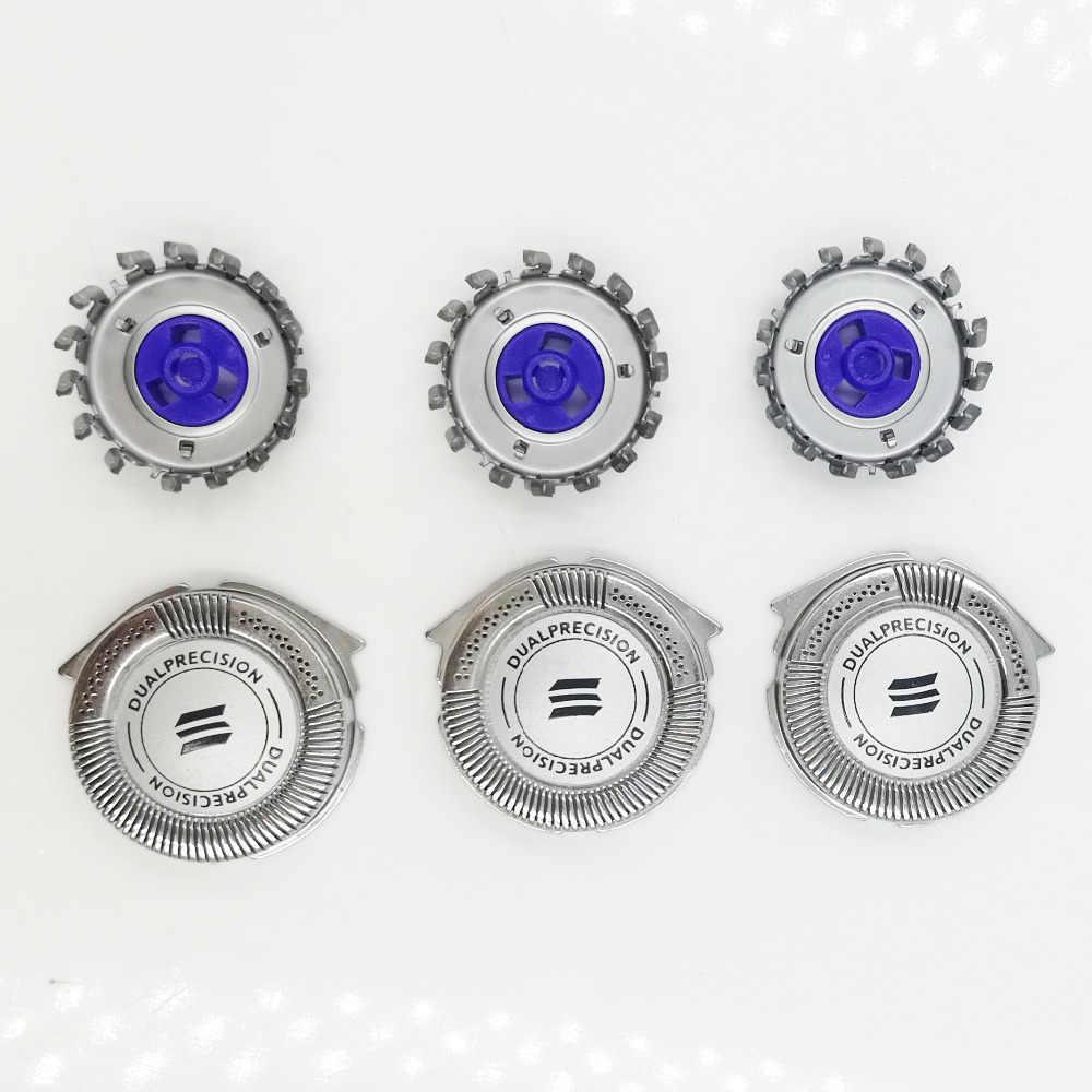 3 adet Yedek başkanları DualPrecision HQ8/52 Uyar Philips Norelco Tıraş AT750/AT751 AT890 AT891 PT710 PT720 PT730 7110X 8831XL