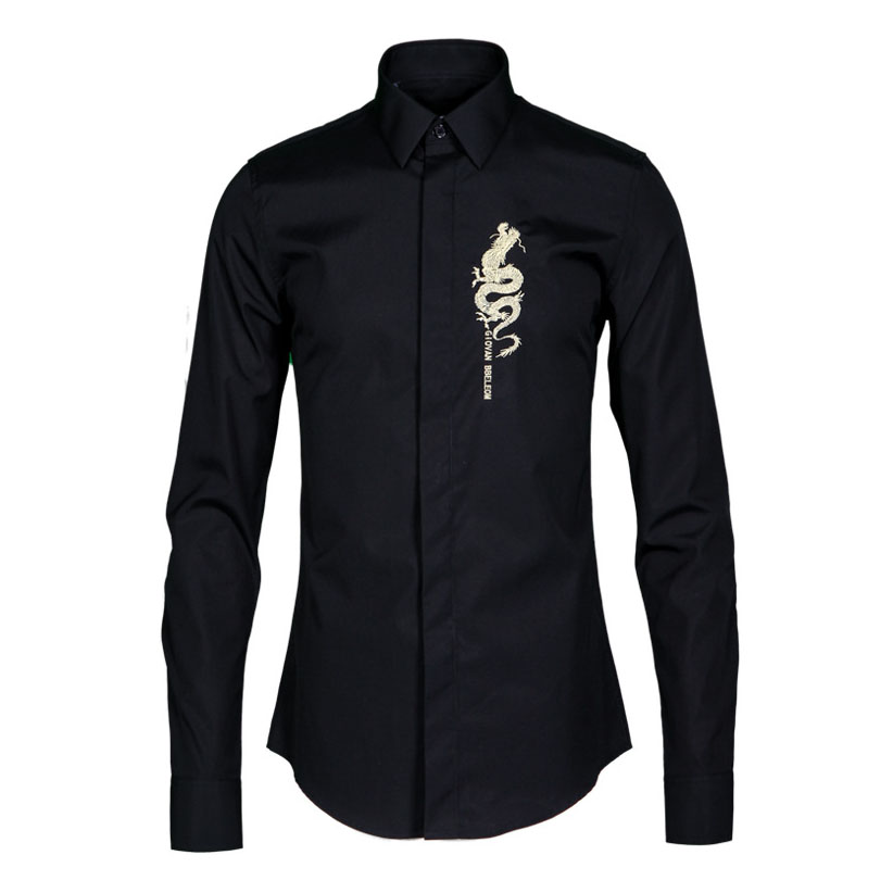 latest shirt designs mens dragon shirts for men fashion Non-iron wrinkle free cotton business men dress shirt shirts for men