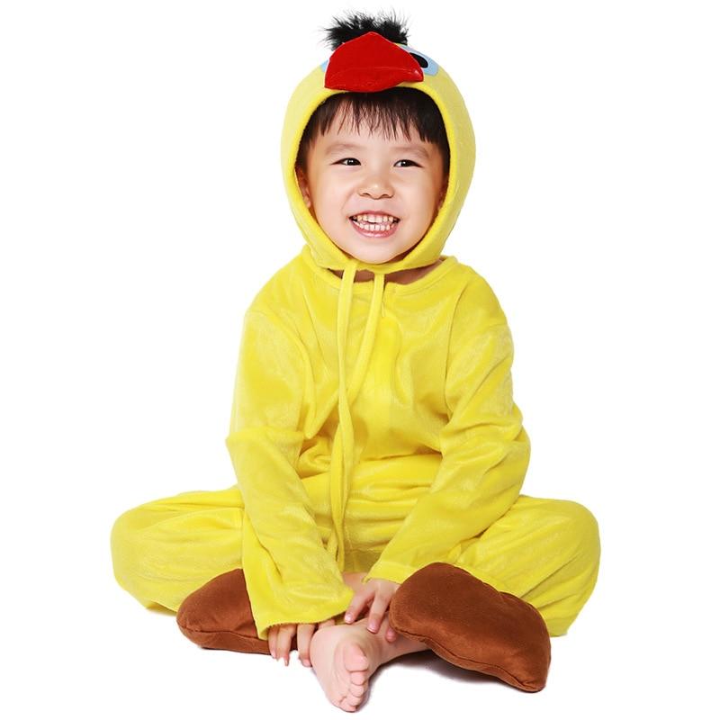 Animal Duck Chick Performance Birdie Cartoon Children's Day Cosplay Jumpsuit For Boys&Girls