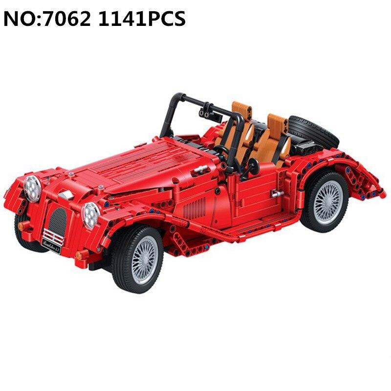 Nowy Diy 1141 sztuk Technic czerwony kabriolet samochód klocki klocki zabawki edukacyjne dla dzieci i prezenty świąteczne dla dzieci w Klocki od Zabawki i hobby na  Grupa 2