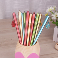 50pcs Set Wholesale 0 5mm Black Neutral Gel Pen Needle Type Water Gel Pen With Pendant