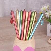 50pcs Set Wholesale 0 5mm Black Neutral Gel Pen Needle Type Water Gel Pen With Pendant