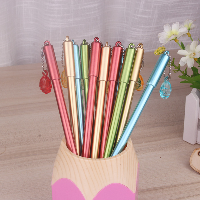 50pcs/set Wholesale 0.5mm Black Neutral Gel Pen Needle Type Water Gel Pen with Pendant Student Supplies Office Stationery гель la roche posay effaclar duo[ ] unifiant
