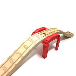 P061 красный Мультифункциональный Piers трек совместимый поезд деревянные треки идеально подходит для деревянных железнодорожных