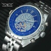 JARAGAR Top Brand Luxury Classic Men Automatic Tourbillon Watch Movement Mechanical Stainless Steel Strap Calendar Wristwatches