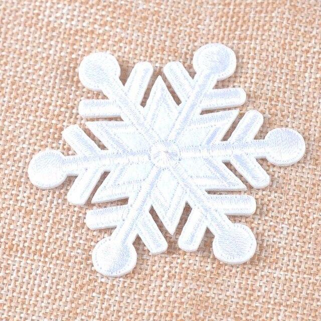 5 unids parches bordados para la ropa de copo de nieve de hierro en ...