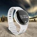 Bluetooth smart watch e07 smartwatch para android ios smartphone à prova d' água pulseira de fitness rastreador dispositivo wearable com pacote