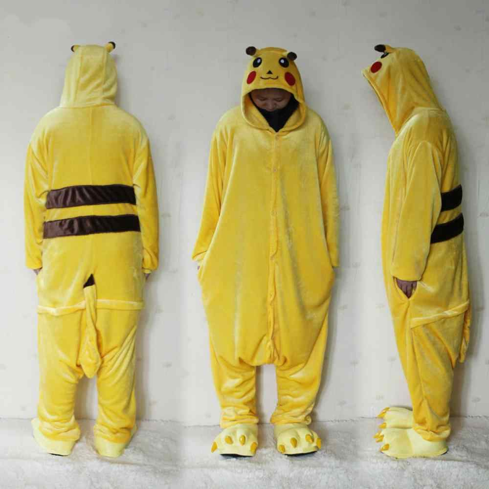0260d5d787 Hot Animal Stitch Bear Pajamas Adult Unisex Women Men Onesie Halloween  Costume Fleece One Piece Sleepwear