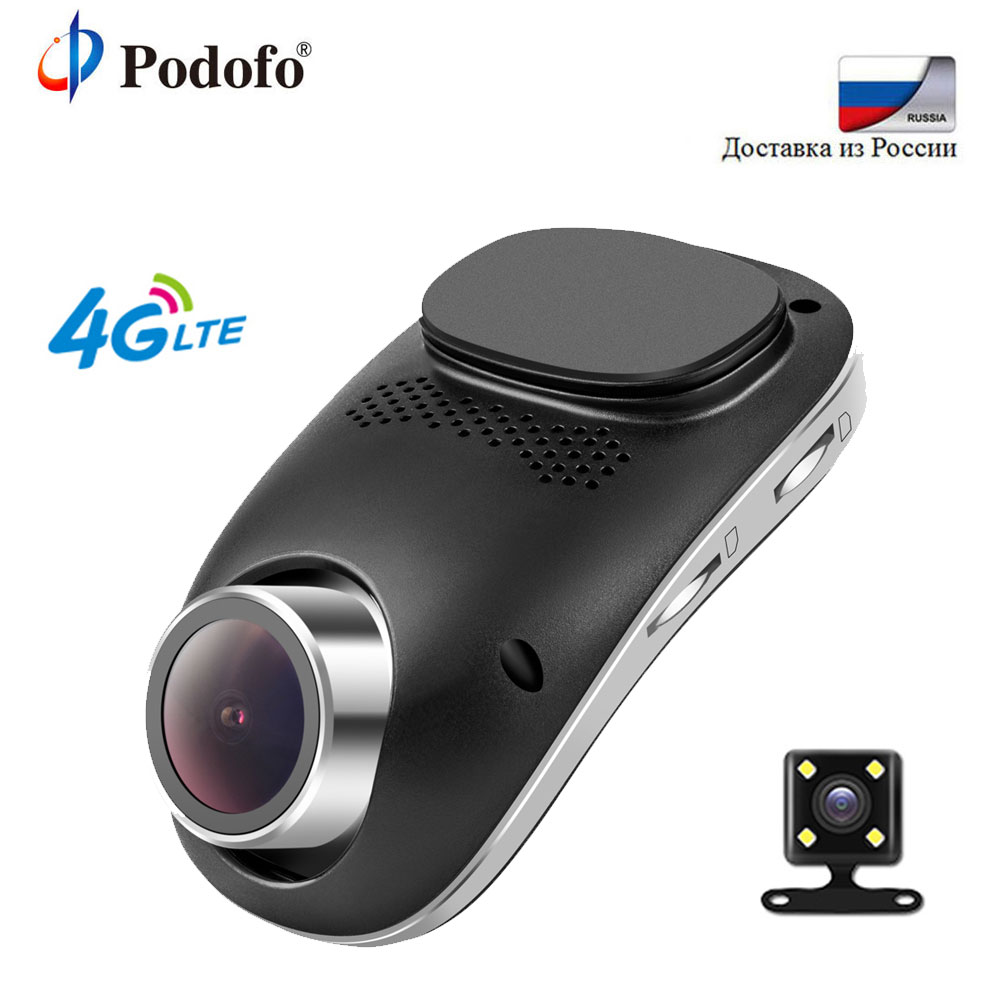 Podofo 4G Precipitare Della Macchina Fotografica Android GPS ADAS Registrator Dash obiettivo Doppio cam Full HD 1080 P Mini Registrazione in Loop Dashcam Auto DVR Wifi