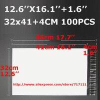 Bianco impermeabile espresso poli sacchetto della posta 100 pz/lotto 32x45CM_12.6