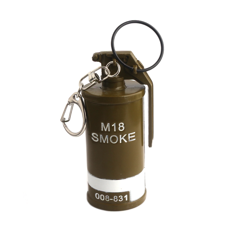 Game PUBG Stun Grenades M18 SMOKE Keychain Playerunknowns Battlegrounds Weapon Pendant keychain souvenir for PUBG game lover