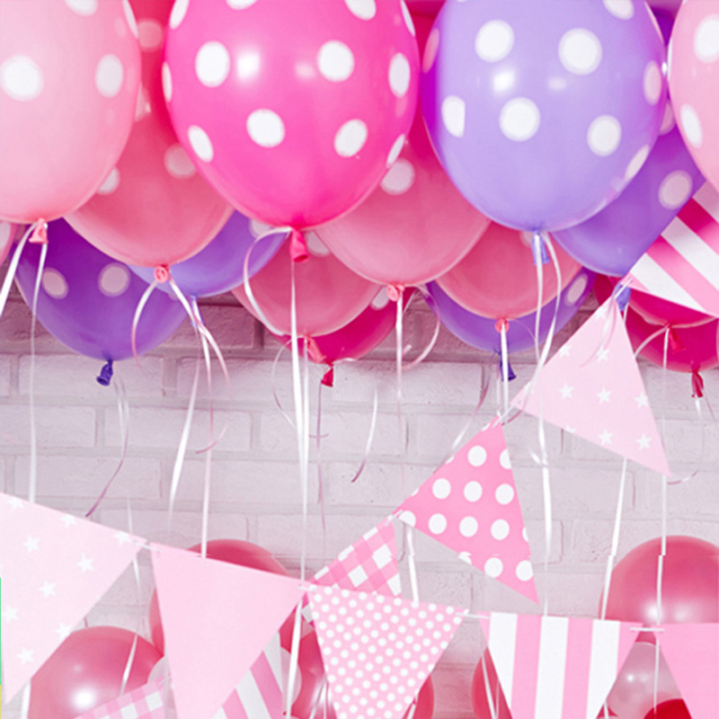 10pcs Lot Latex Polka Dot Balloons For Party Wedding Birthday Marry Decoration Wholesale