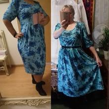 New 5xl 6xl Plus Size Print Dress Spring Summer Women clothing 2018 vintage floral print Big Sizes female office Dress Vestidos