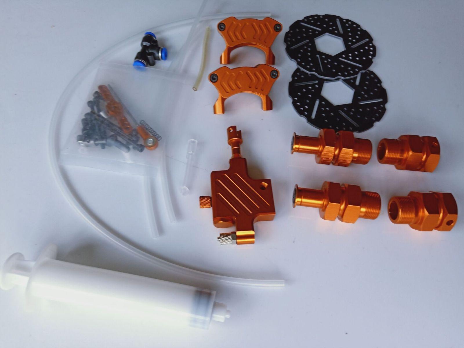 Front Hydraulic Brake System for HPI km rovan Baja 5B orange color baja 5b metal cnc alloy rim fit hpi km rovan orange red color