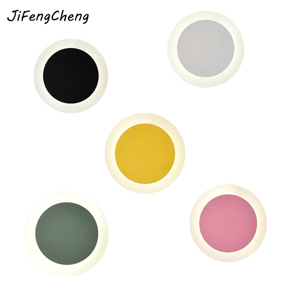Jifengcheng регулируемый светодиодный светильник настенный Гостиная Настенный декор Освещение красочные Спальня огни Luminaria