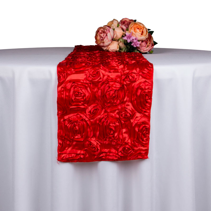 10PCS Wholesale Rose Embroidered Table Runner Decoration Hotel ...