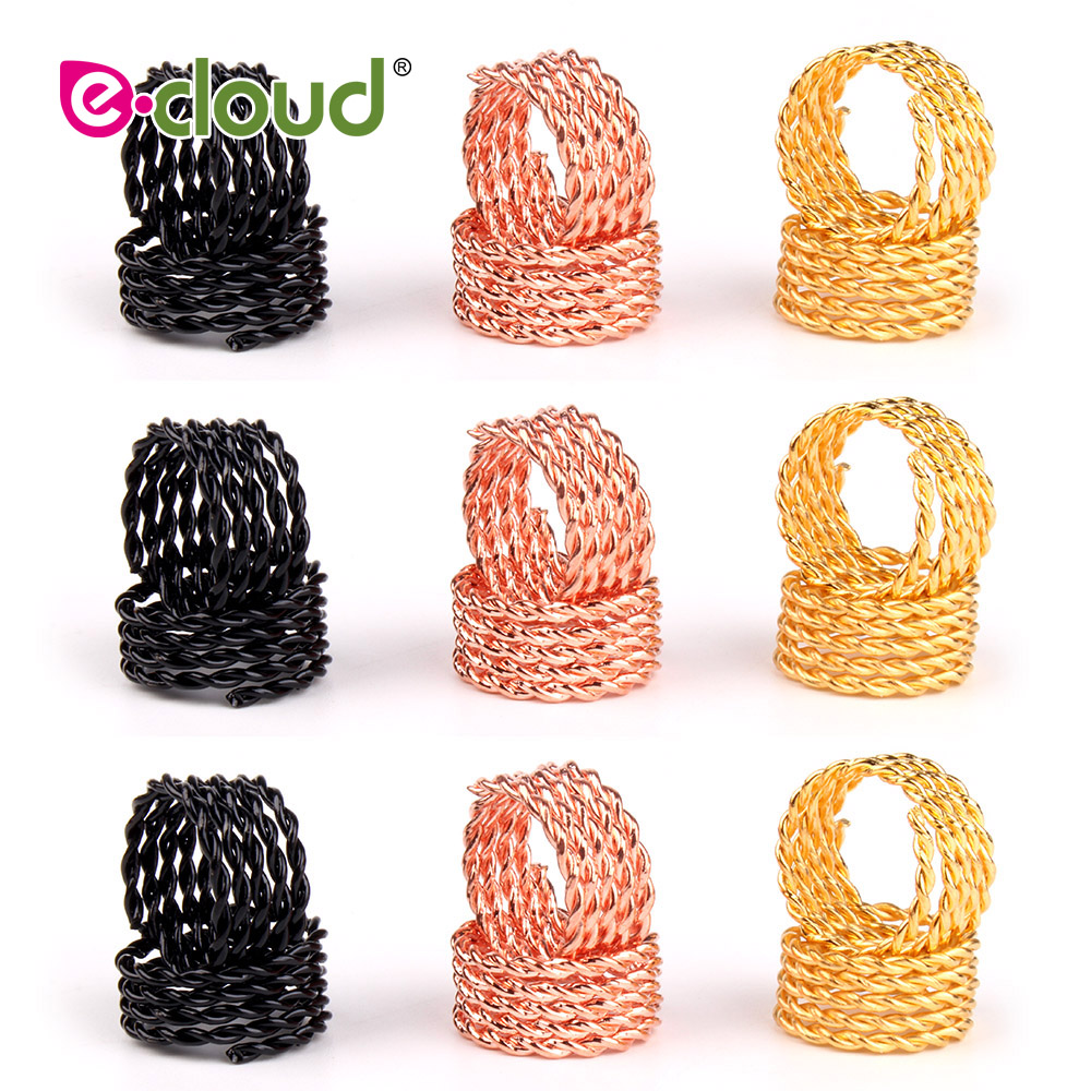50 200pcs 11mm Hole Copper Hair Dreadlocks Braiding Dread Locks Coil Hair Wraps Metal Hair Braiding Hair Cuffs for Decorations in Links Rings Tubes from Hair Extensions Wigs