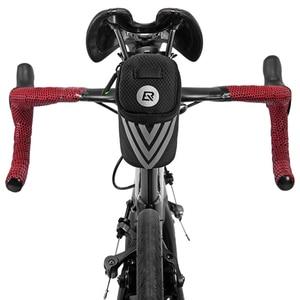 Image 5 - ROCKBROS Bike Bag Portable Reflective Saddle Bag Tail Seatpost Nylon Bicycle Bag MTB Road Bike Bag Panniers Bicycle Accessories