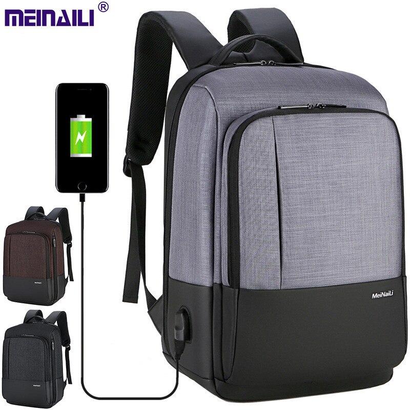 Sac à bandoulière décontracté de grande capacité pour hommes avec sac de voyage étanche à l'eau de charge USB
