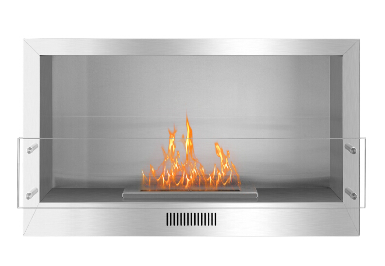 Real Fire Stainless Steel  Ethanol  Wall Mounted Fireplace