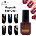 Saviland 1pcs Cat Eye Magnet Nail Gel Varnishes Top Coat Long Lasting Nail Gel Lacquer Polish Magnetic Top Coat