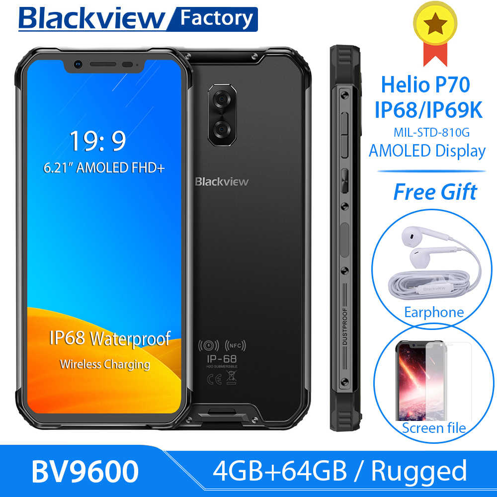 "Blackview a BV9600 P70 AI Octa Core IP68 resistente Smartphone 4GB 64 GB G Android 9,0 de 6,21 ""FHD + AMOLED teléfono Móvil Global 4G NFC 16MP"