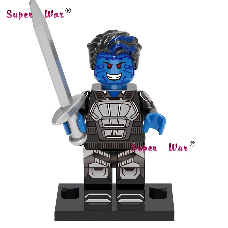 1PCS Superhero Marvel Avengers X-Men Nightcrawler Building Blocks Action  Sets Model Bricks Toys For Children