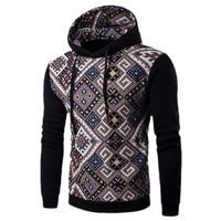 Hot Sale Plaid Casual Men S Hoodies Sweatshirts Long Sleeve Folk Style Color Men Hoodies Size