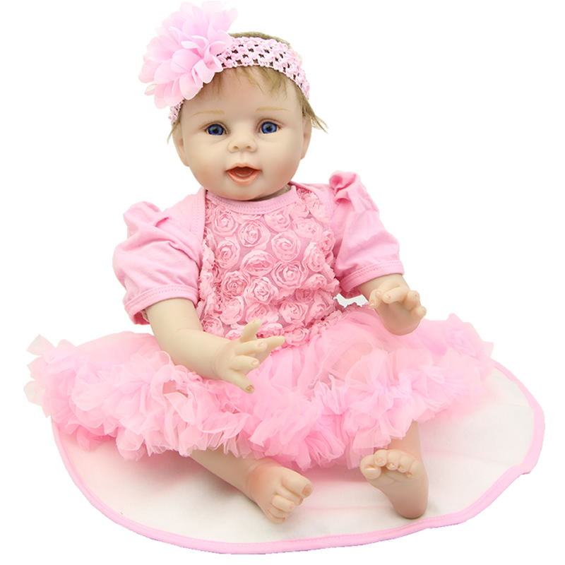 So Truly Real 22 Inch Silicone Baby Dolls Cloth Body Soft Lifelike Newborn Reborn Babies Children Birthday Xmas Gift 22 inches soft silicone reborn baby dolls cloth body real looking newborn alive girl babies boneca toy kids birthday xmas gift