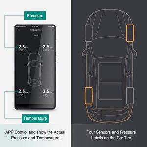 Image 4 - 70mai TPMS монитор давления в шинах Bluetooth, автомобильное давление в шинах, Солнечная USB Двойная зарядка, светодиодный дисплей, умная система сигнализации, управление приложением