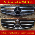 suitable for Car Front Grill For 2008-2013 ABS C Class W204 Sport Car Grills For W204 C280 C200 C220 C250 C300 C350 A2048800023